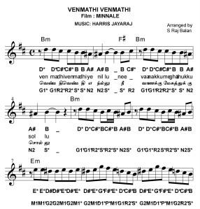 Tamil Song Piano Notes Venmathi Venmathi Minnale Bollywood Sheet Music Aaj se teri movie : tamil song piano notes venmathi