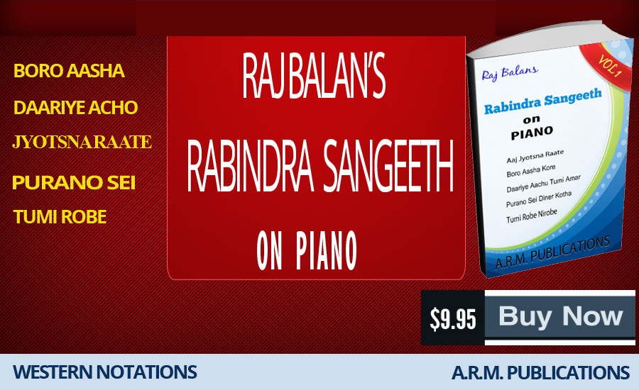 PIANO SHEET MUSIC BOOK PDF FOR RABINDRA SANGEET BY S RAJ BALAN